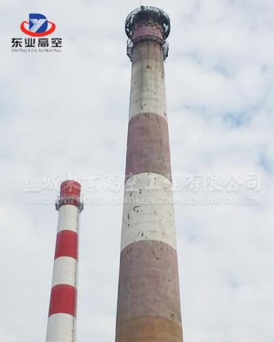 北京180米烟囱拆除